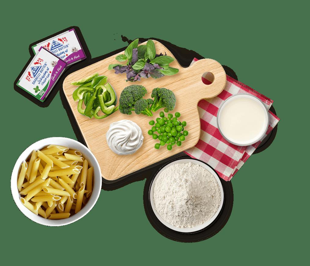 کره سیر و سبزیجات شَکِلّی