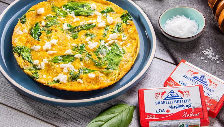 املت اسفناج | Spinach omelette