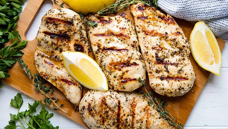 Grilled chicken with garlic and lemon sauce| مرغ گریل با سس کره سیر و لیمو