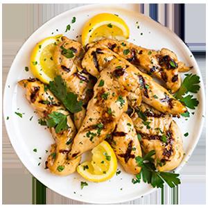 Grilled chicken with garlic and lemon sauce |مرغ گریل با سس کره سیر و لیمو
