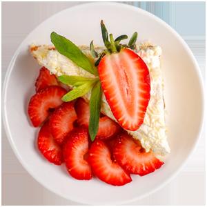 دسر خامه توت فرنگی | Strawberry cream dessert