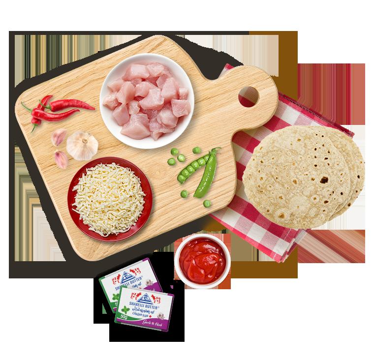 کسادیا مرغ و پنیر   Chicken and cheese Quesadillas