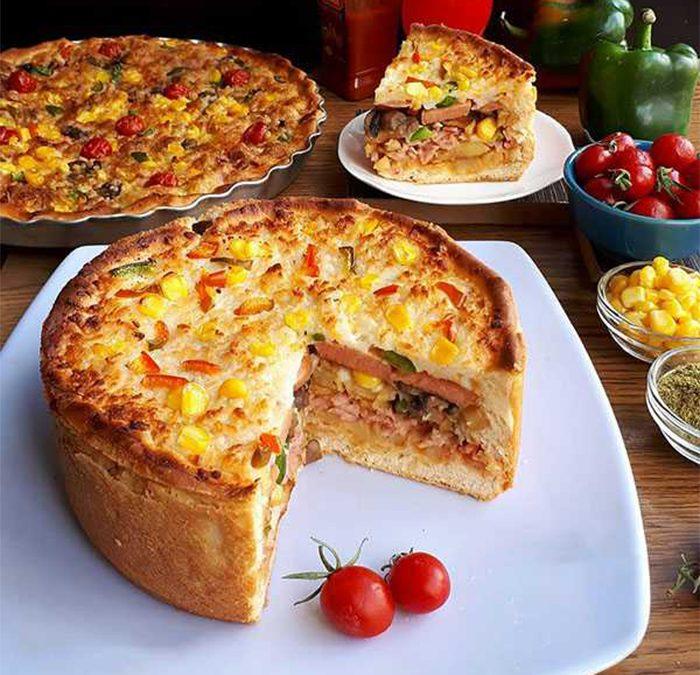 کیک پیتزا