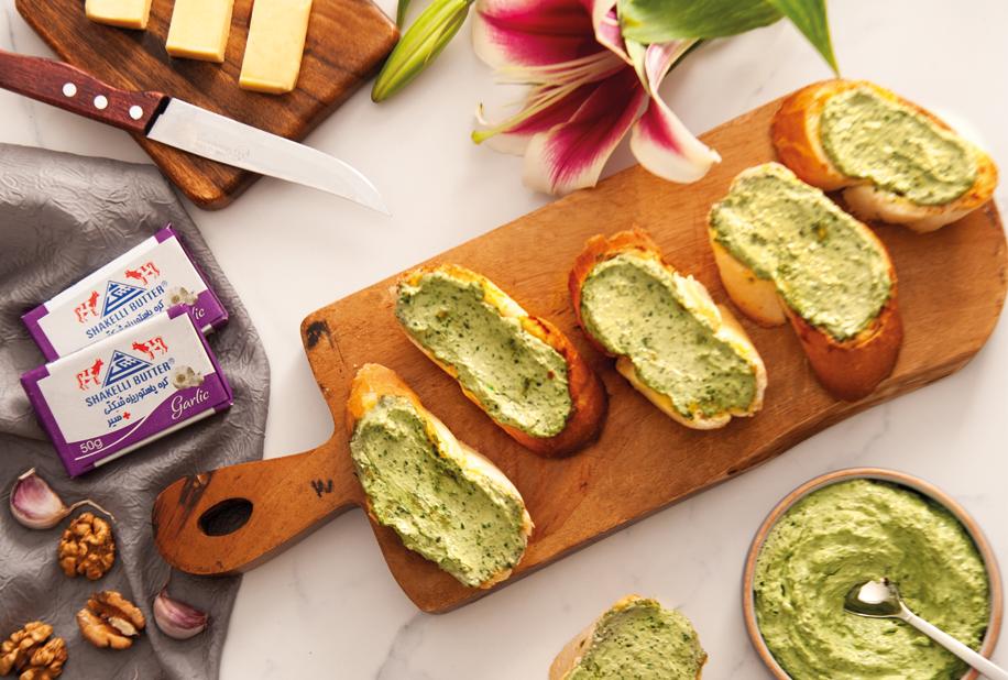 کره سیر و سبزیجات | herb and garlic butter